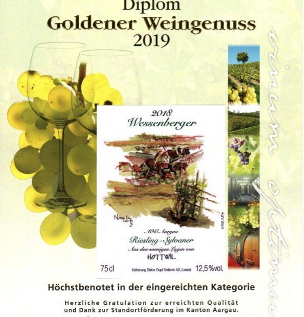 Goldener Weingenuss Wessenberger 2019